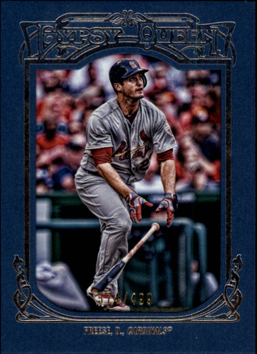 2013 Topps Gypsy Queen Framed Blue #34 David Freese
