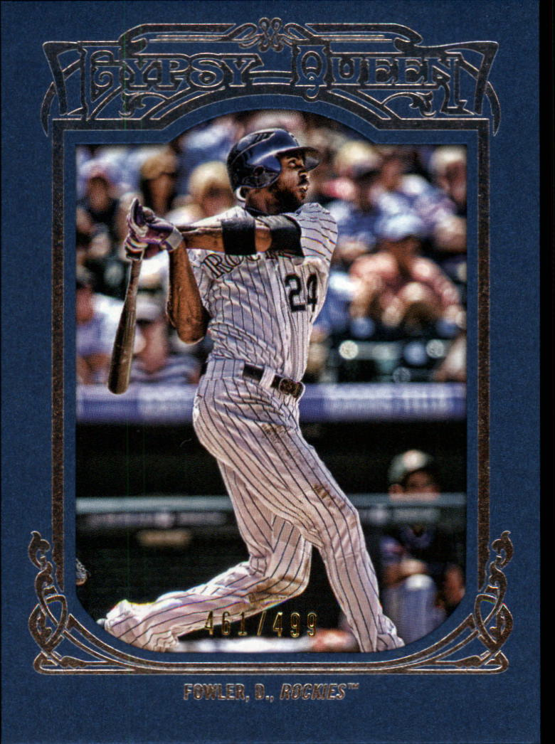 2013 Topps Gypsy Queen Framed Blue #39 Dexter Fowler