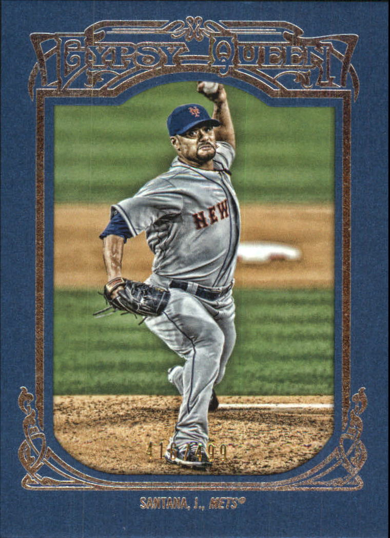 2013 Topps Gypsy Queen Framed Blue #65 Johan Santana