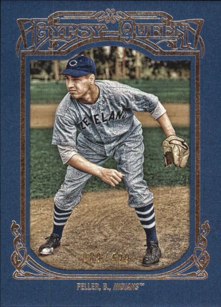 2013 Topps Gypsy Queen Framed Blue #70 Bob Feller