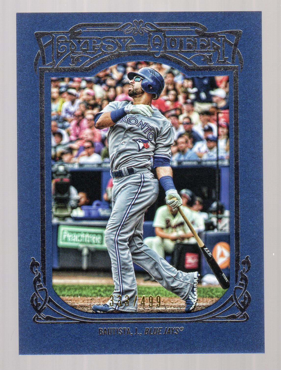 2013 Topps Gypsy Queen Framed Blue #71 Jose Bautista