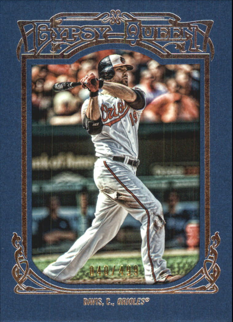 2013 Topps Gypsy Queen Framed Blue #184 Chris Davis