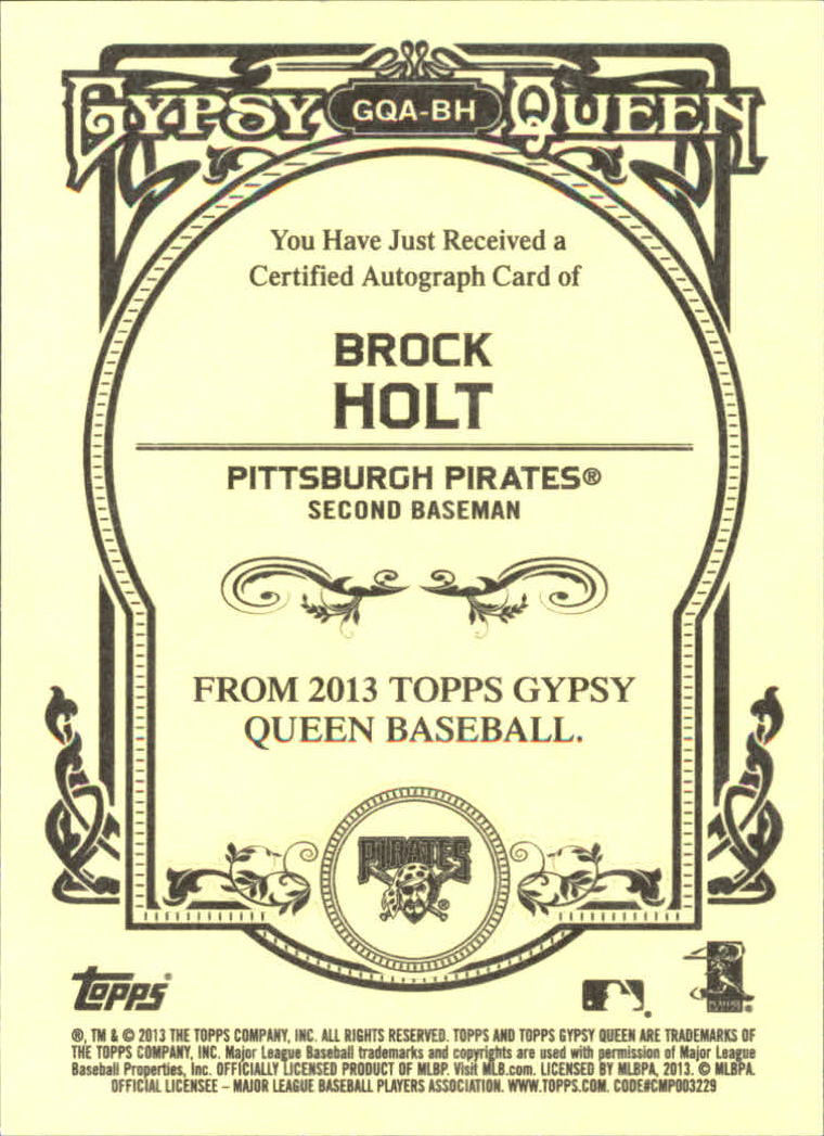2013 Topps Gypsy Queen Autographs #BH Brock Holt