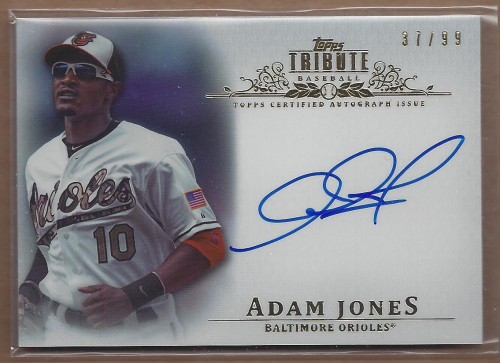 2013 Topps Tribute Autographs #AJ Adam Jones