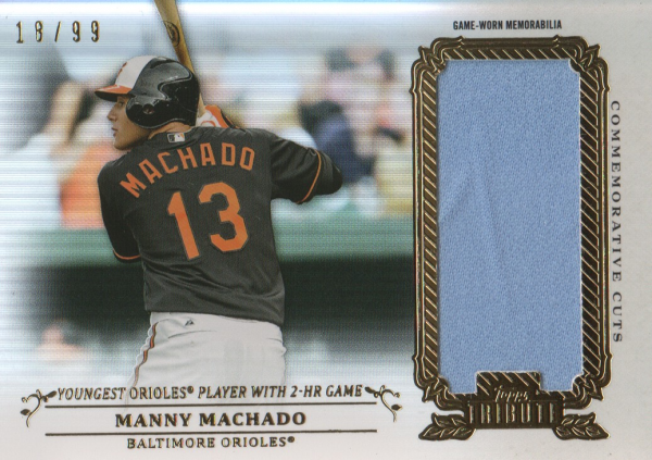 2013 Topps Tribute Commemorative Cuts Relics #MM Manny Machado