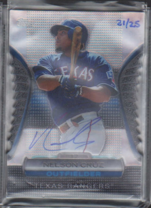 2012 Topps Golden Moments Die Cuts Autographs #GMDC85 Nelson Cruz