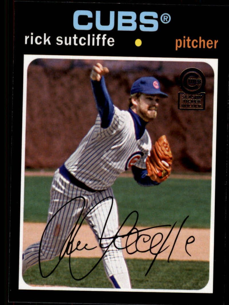 2013 Cubs Topps Archives Season Ticket Holder #80 Rick Sutcliffe