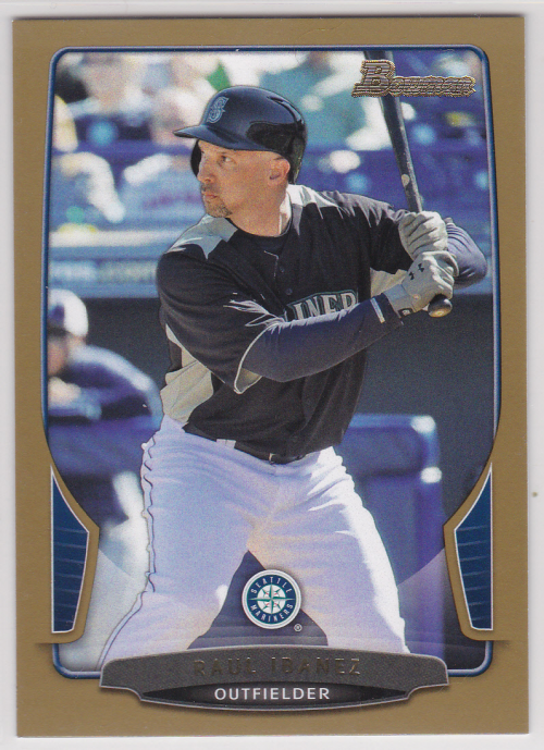 2013 Bowman Gold #62 Raul Ibanez