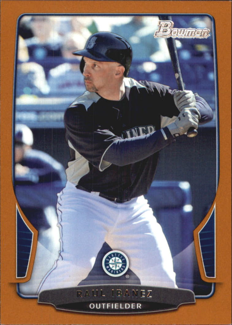 2013 Bowman Orange #62 Raul Ibanez