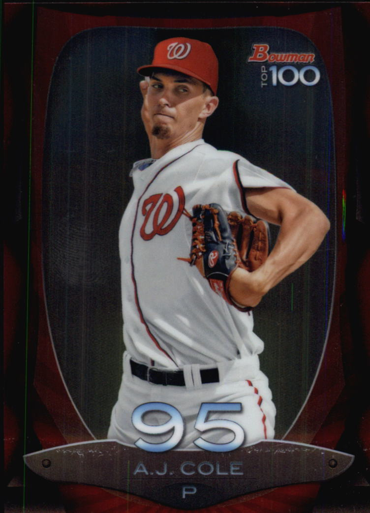 2013 Bowman Top 100 Prospects #BTP95 A.J. Cole