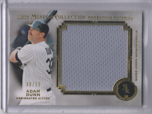 2013 Topps Museum Collection Momentous Material Jumbo Relics Gold #AD Adam Dunn