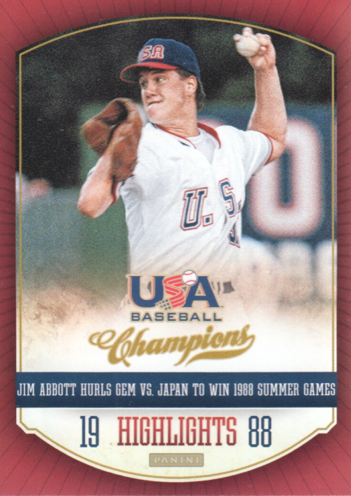 2013 USA Baseball Champions Highlights #3 Jim Abbott