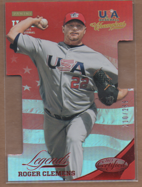 2013 USA Baseball Champions Legends Certified Die-Cuts Mirror Red #4 Roger Clemens