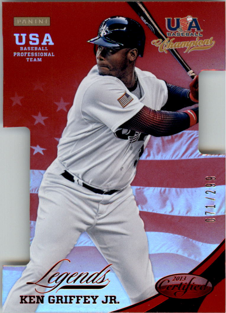 2013 USA Baseball Champions Legends Certified Die-Cuts Mirror Red #7 Ken Griffey Jr.