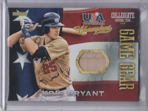 2013 USA Baseball Champions Game Gear Bats #1 Kris Bryant