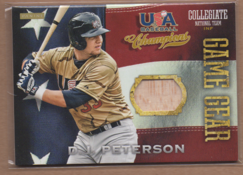 2013 USA Baseball Champions Game Gear Bats #10 D.J. Peterson