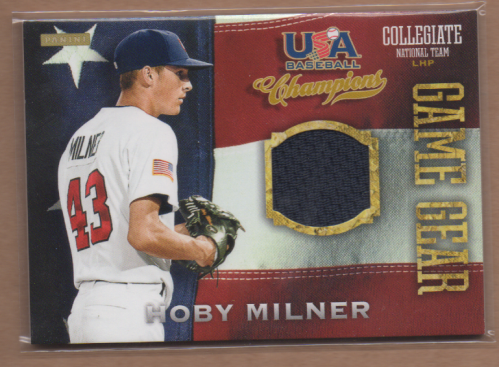 2013 USA Baseball Champions Game Gear Jerseys #12 Hoby Milner