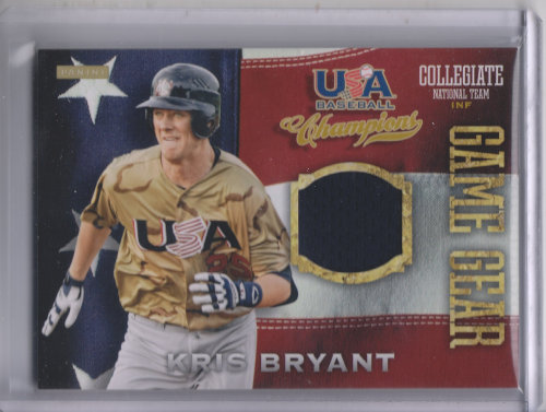 2013 USA Baseball Champions Game Gear Jerseys #26 Kris Bryant