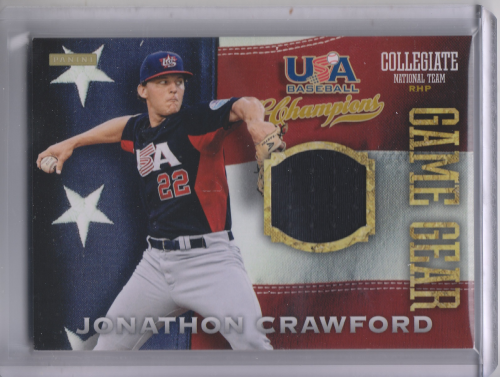 2013 USA Baseball Champions Game Gear Jerseys #30 Jonathon Crawford