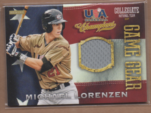 2013 USA Baseball Champions Game Gear Jerseys #36 Michael Lorenzen