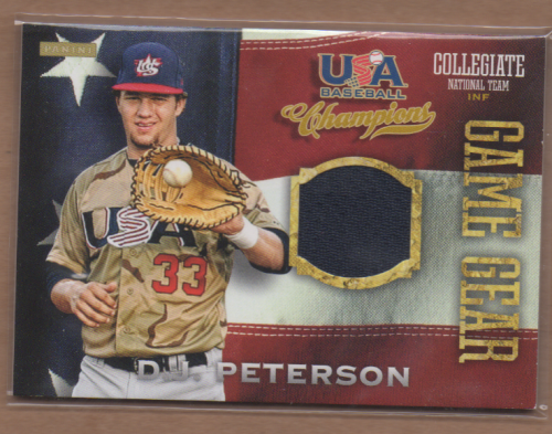 2013 USA Baseball Champions Game Gear Jerseys #37 D.J. Peterson