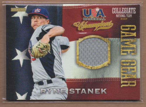 2013 USA Baseball Champions Game Gear Jerseys #42 Ryne Stanek