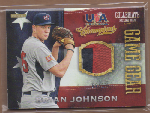 2013 USA Baseball Champions Game Gear Jerseys Prime #7 Brian Johnson/99