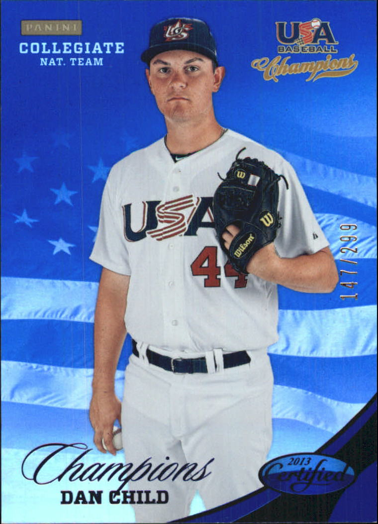 2013 USA Baseball Champions National Team Mirror Blue #128 Dan Child