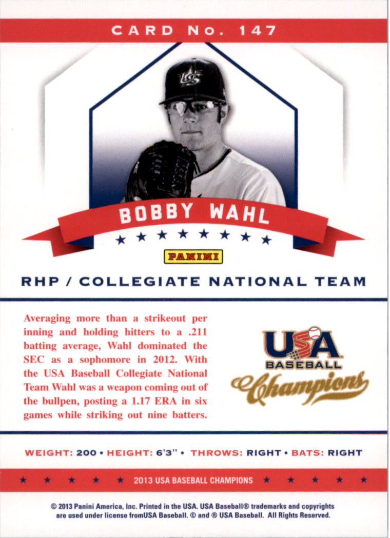 2013 USA Baseball Champions National Team Mirror Blue #147 Bobby Wahl
