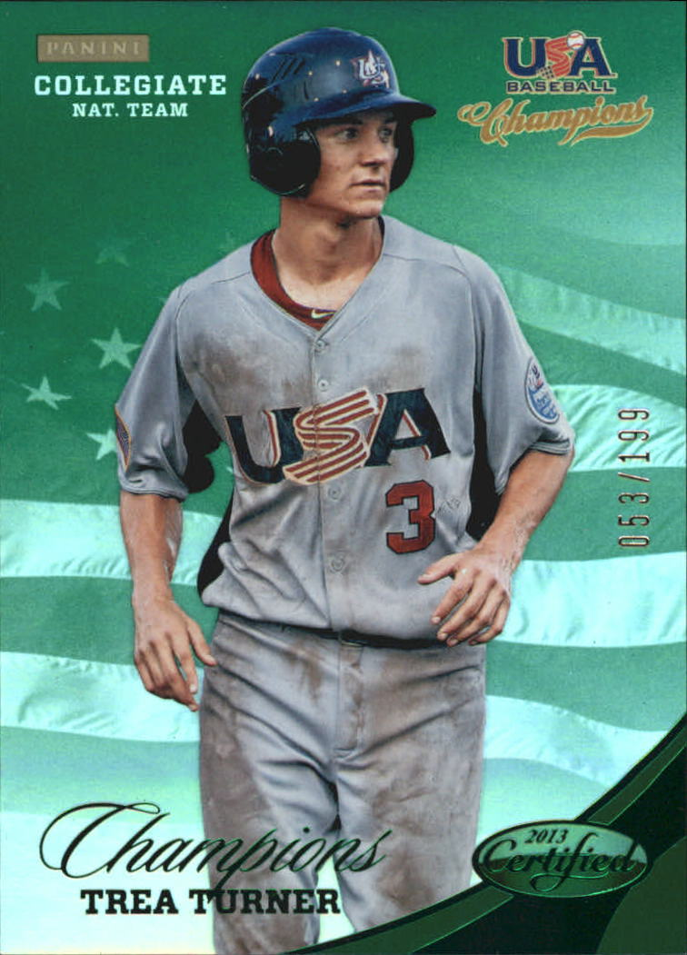 2013 USA Baseball Champions National Team Mirror Green #146 Trea Turner