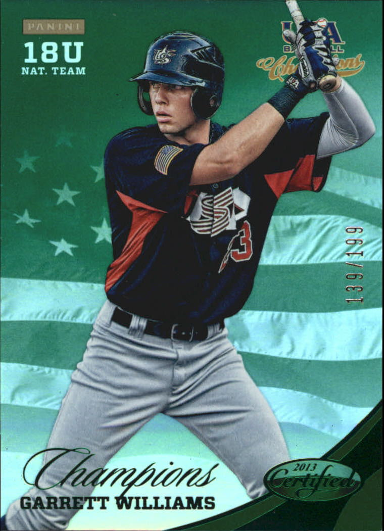 2013 USA Baseball Champions National Team Mirror Green #167 Garrett Williams