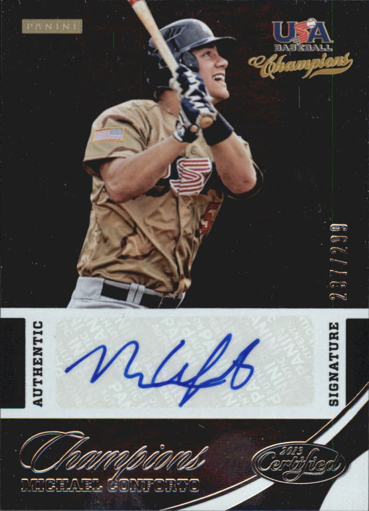 2013 USA Baseball Champions National Team Certified Signatures #4 Michael Conforto/299
