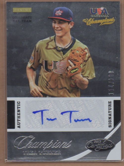 2013 USA Baseball Champions National Team Certified Signatures #21 Trea Turner/299