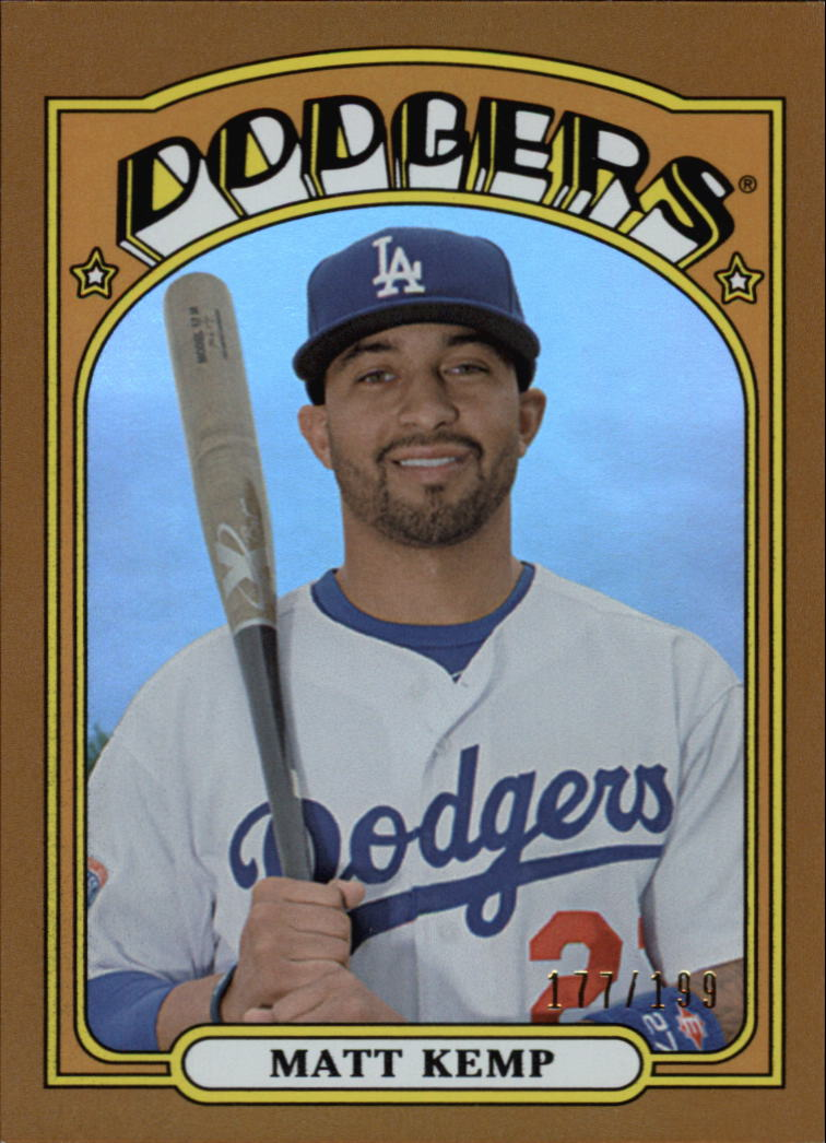 2013 Topps Archives Gold #10 Matt Kemp