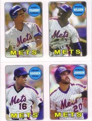 2013 Topps Archives Four-In-One #SWGJ Darryl Strawberry/Mookie Wilson/Dwight Gooden/Howard Johnson