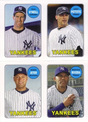 2013 Topps Archives Four-In-One #OPJR Paul O'Neill/Andy Pettitte/Derek Jeter/Mariano Rivera