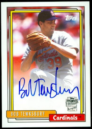 2013 Topps Archives Fan Favorites Autographs #BT Bob Tewksbury