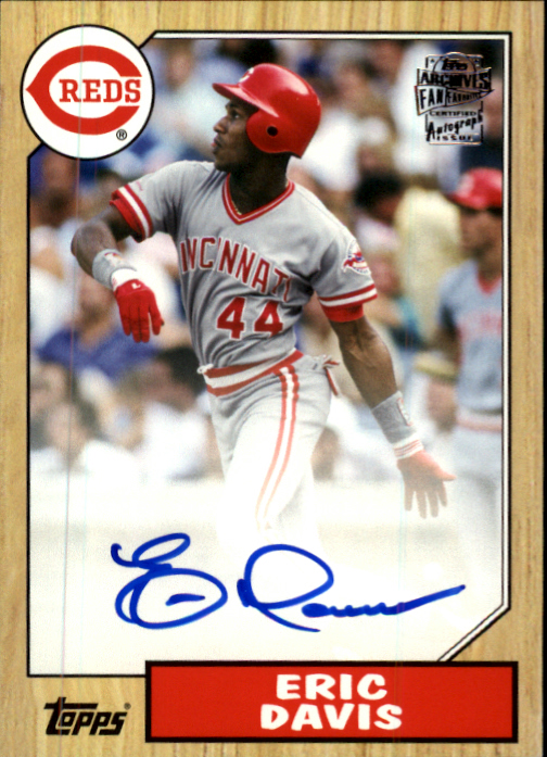 2013 Topps Archives Fan Favorites Autographs #ED Eric Davis