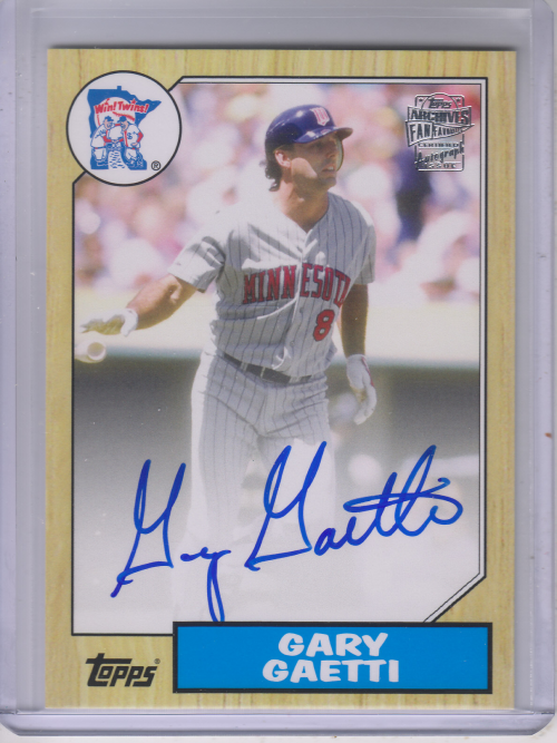 2013 Topps Archives Fan Favorites Autographs #GG Gary Gaetti