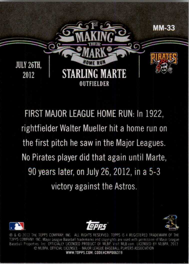 2013 Topps Making Their Mark #MM33 Starling Marte
