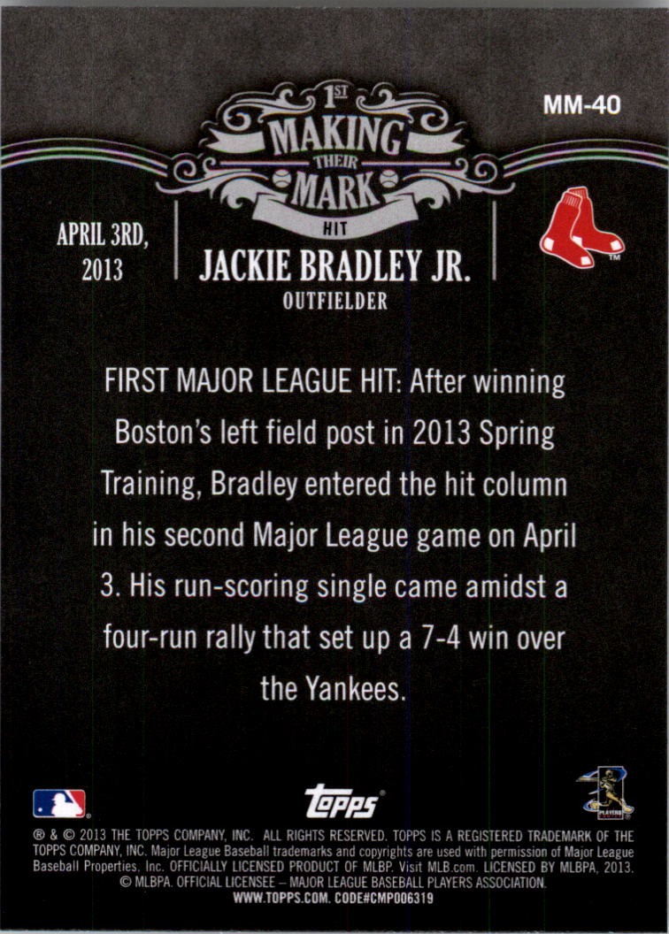 2013 Topps Making Their Mark #MM40 Jackie Bradley Jr.