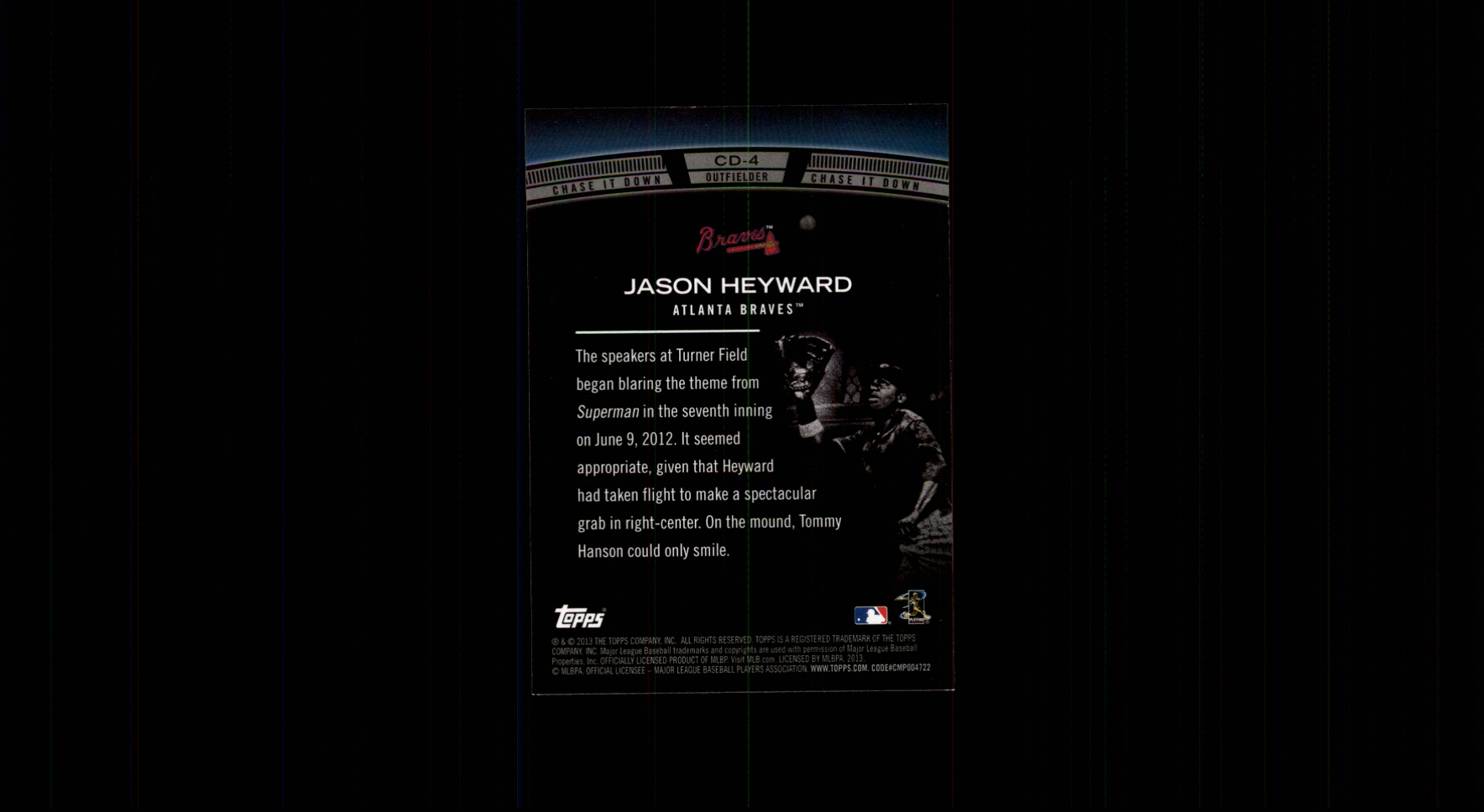 2013 Topps Chase It Down #CD4 Jason Heyward back image
