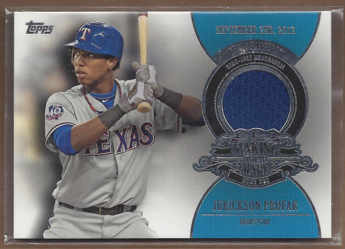 2013 Topps Making Their Mark Relics #JPR Jurickson Profar