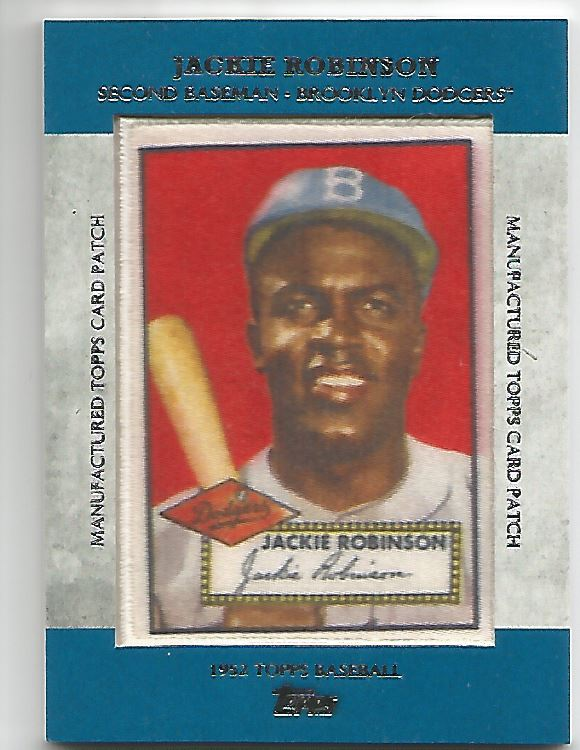 2013 Topps Manufactured Patch #MCP1 Jackie Robinson