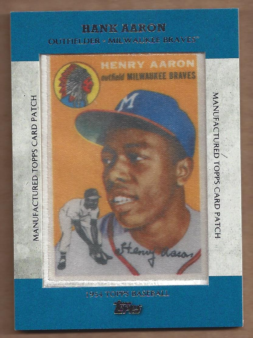 2013 Topps Manufactured Patch #MCP4 Hank Aaron