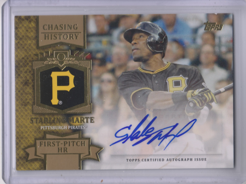 2013 Topps Chasing History Autographs Gold #SM Starling Marte S2