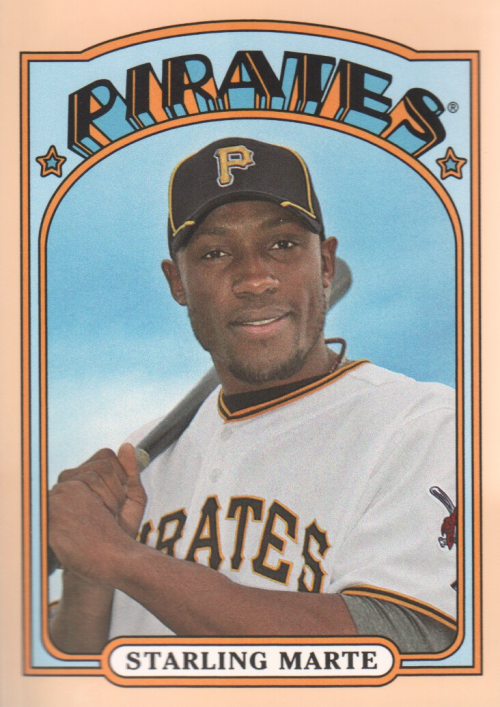2013 Topps Archives Day Glow #43 Starling Marte