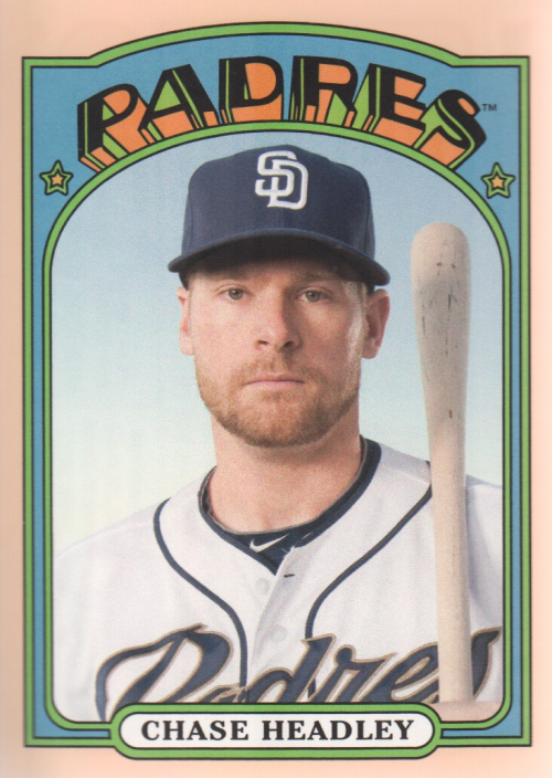 2013 Topps Archives Day Glow #45 Chase Headley