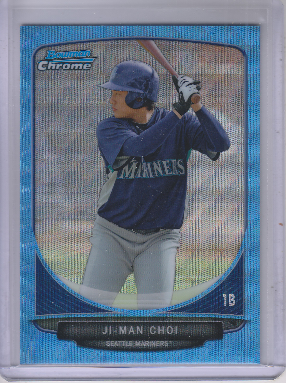 2013 Bowman Chrome Prospects Blue Wave Refractors #BCP9 Ji-Man Choi