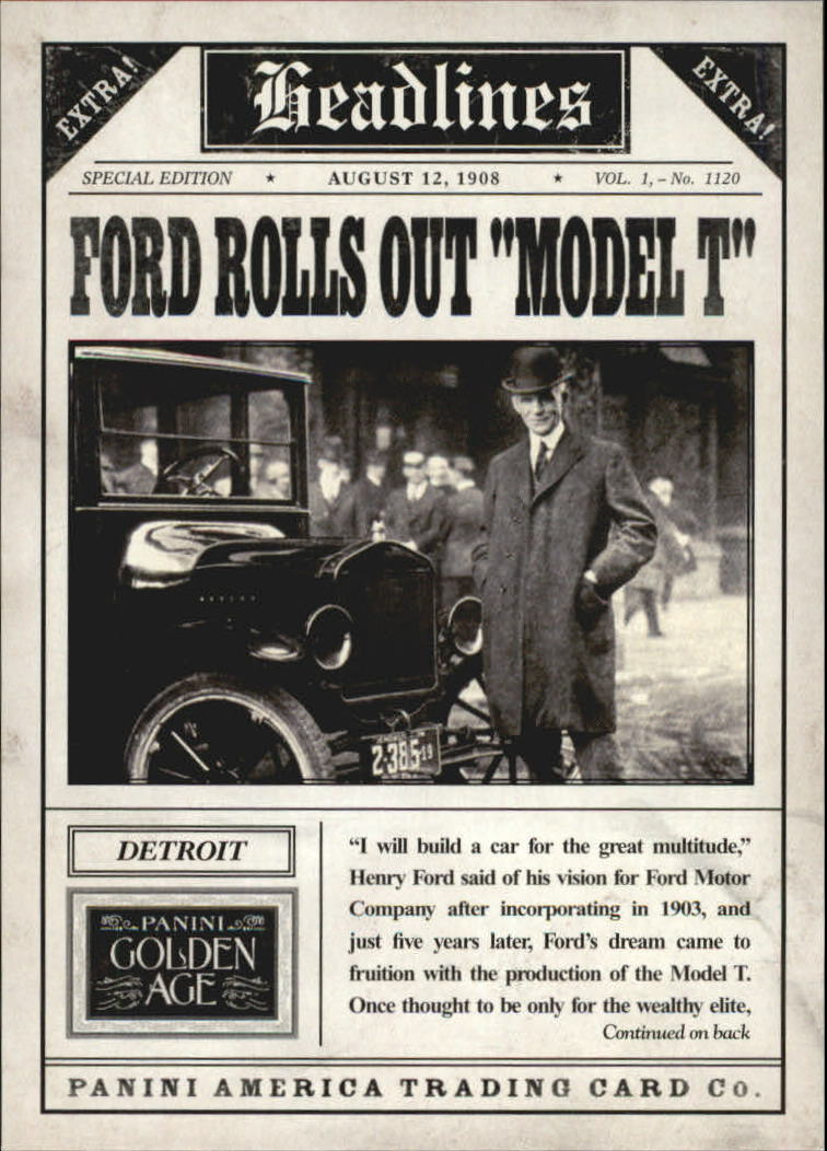 2013 Panini Golden Age Headlines #1 Henry Ford